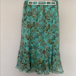 CATO Ruffle Floral Skirt S